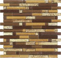 Epoch Tile Aligote Random Glass Mosaic Wall Tile at