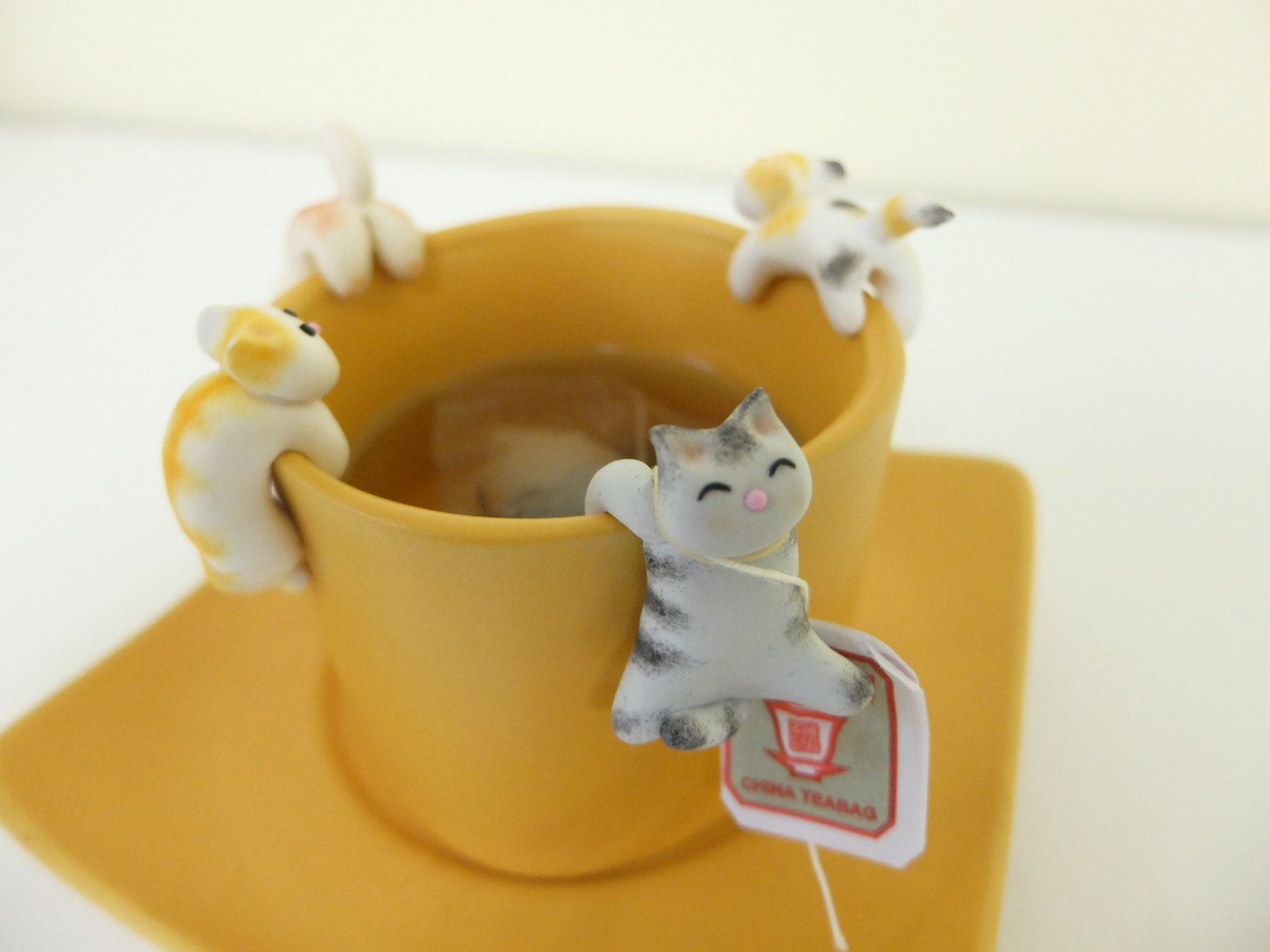 Cat Tea Bag Holder D
