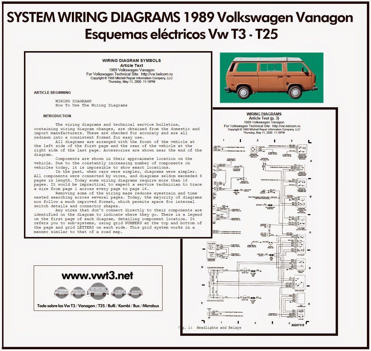 vw transporter wiring diagrams oil burner diagram vwt3 t3 t25 system 1989