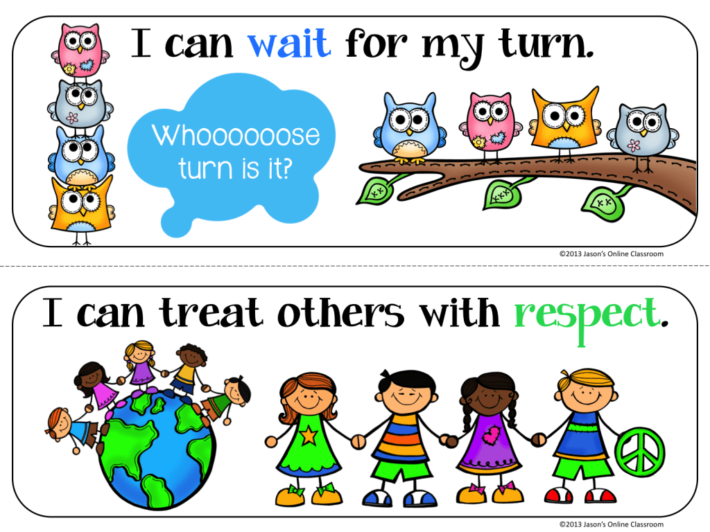 Classroom Rules Preschool Colouring Pages