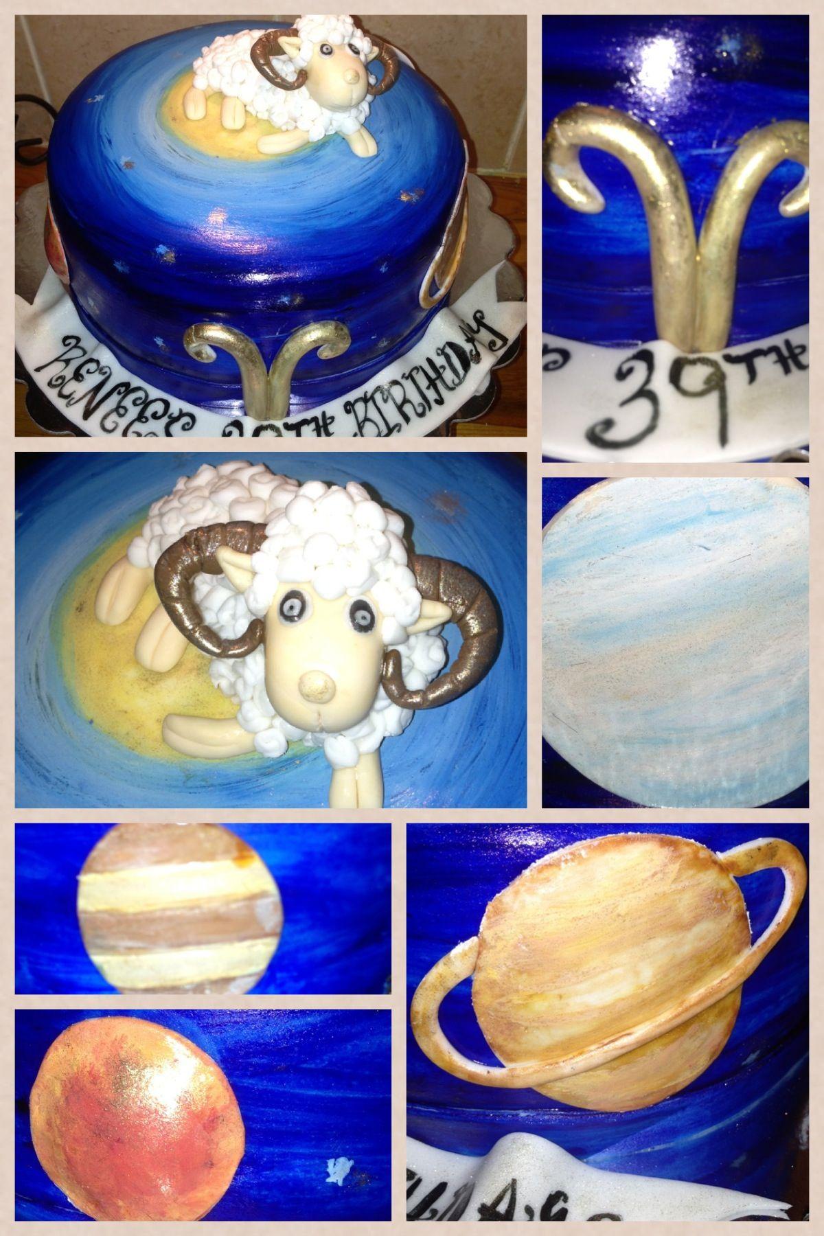 Taurus Zodiac Cake