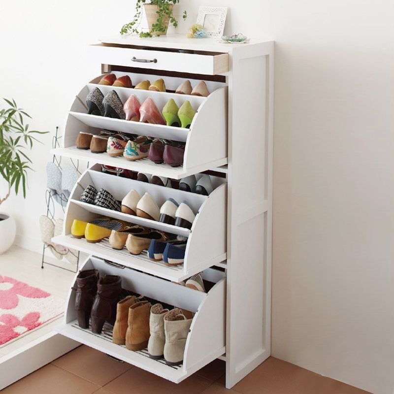 Wingover door shoe cabinet japanese style shoe solid wood