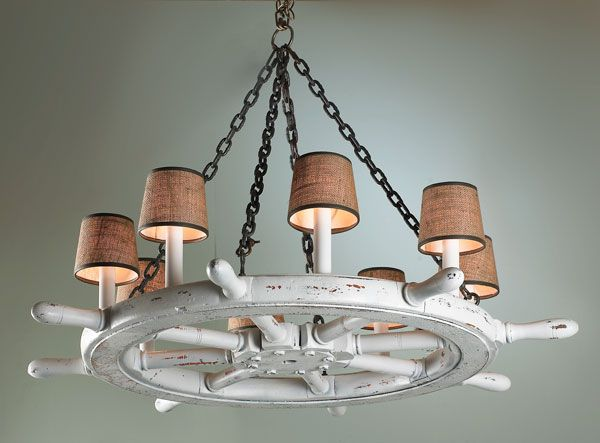 Ship Wheel Chandelier You Can See It In A Room Here Http