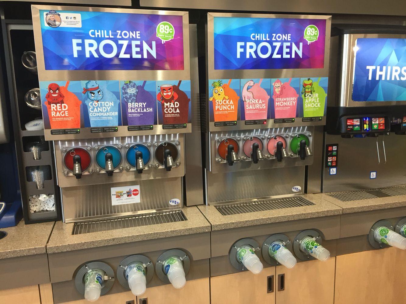 Chill zone slushy Cumberland farms  Special drinks