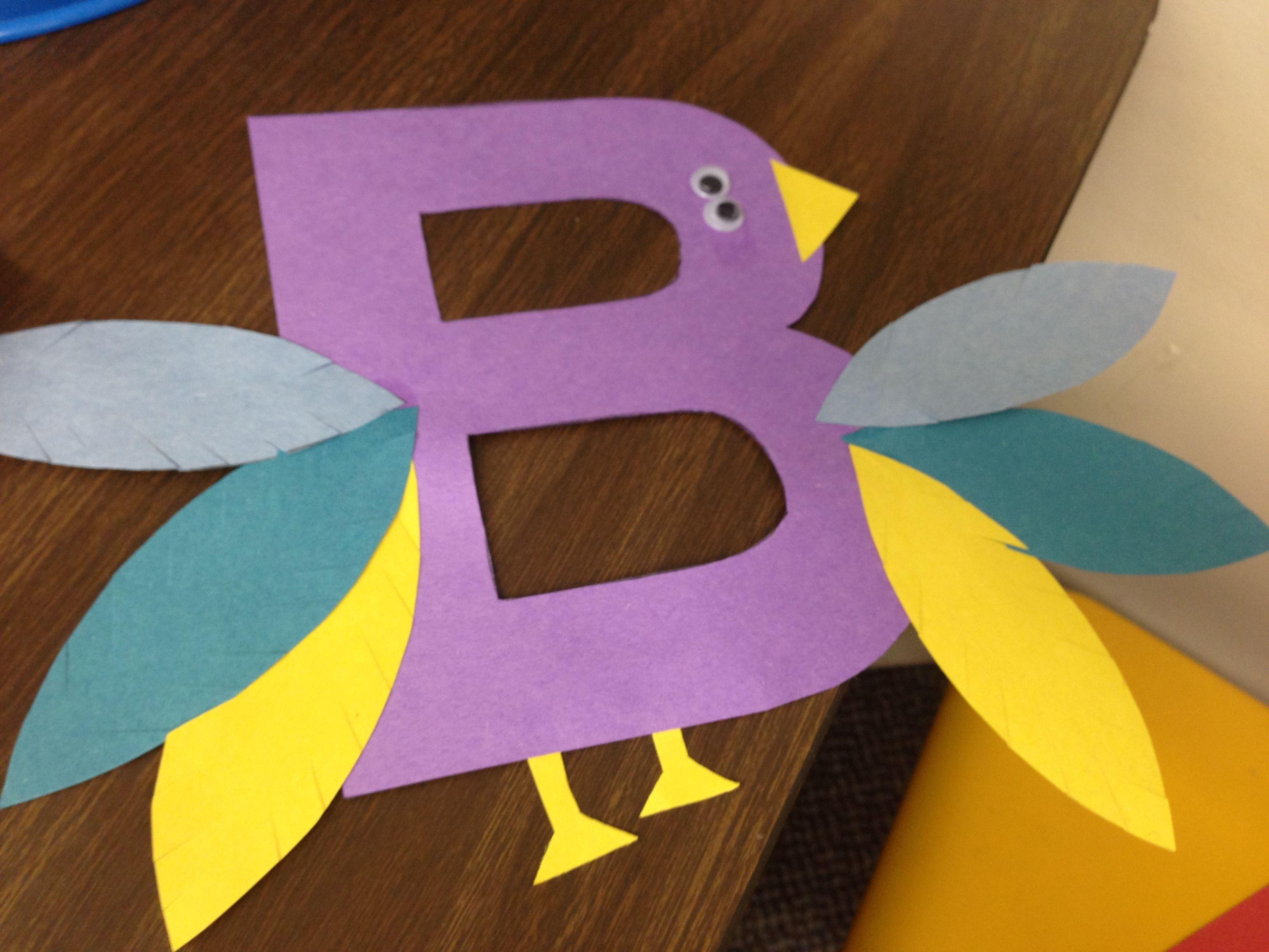 Letter B Bird
