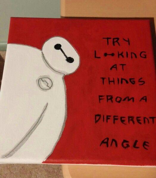 DIY Disney39s Big Hero 6 canvas art Just WOW! Pinterest