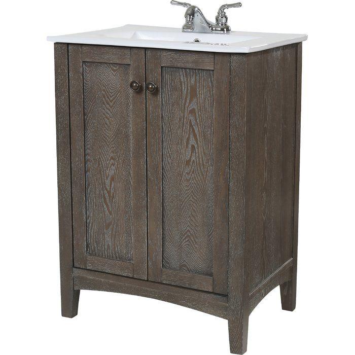 """elegant lighting danville 24"""" single bathroom vanity set & reviews"""