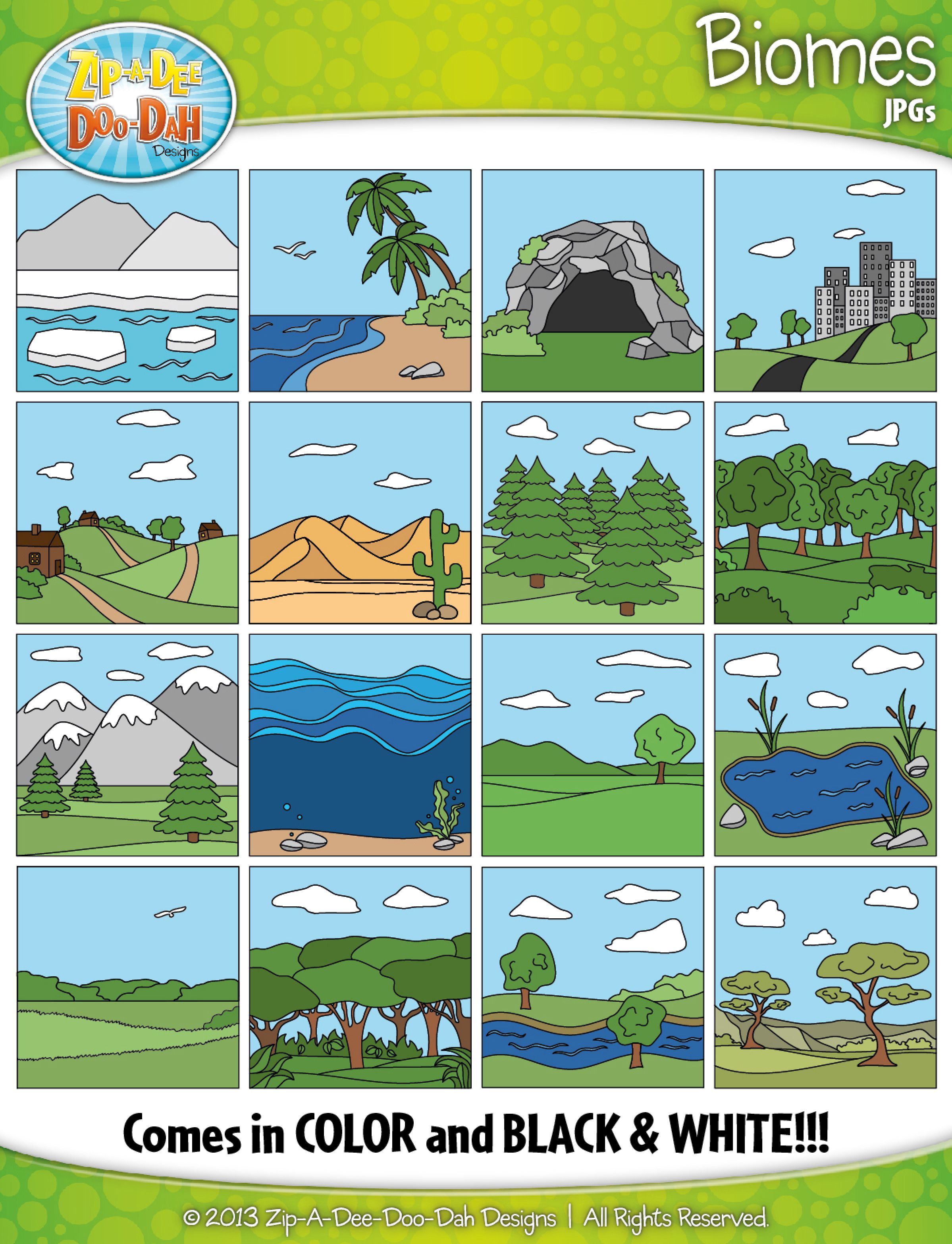 Biomes Ecosystems Clipart Zip A Dee Doo Dah Designs