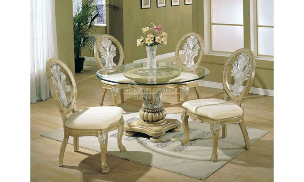 antique white dining room sets  Coronado Round Antique