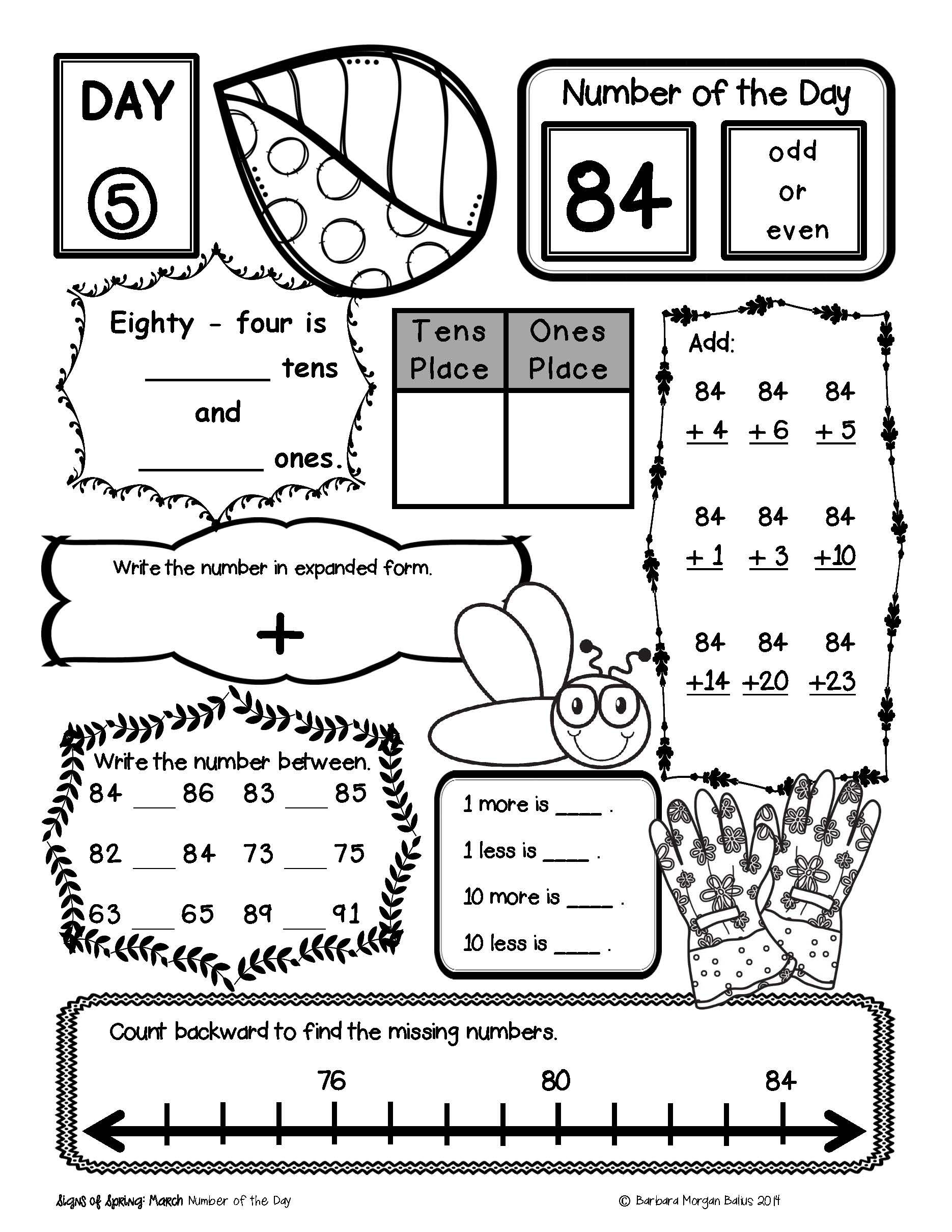 worksheet. Number Of The Day Worksheet. Grass Fedjp