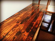 Kitchen Countertop With Reclaimed Pallet Wood