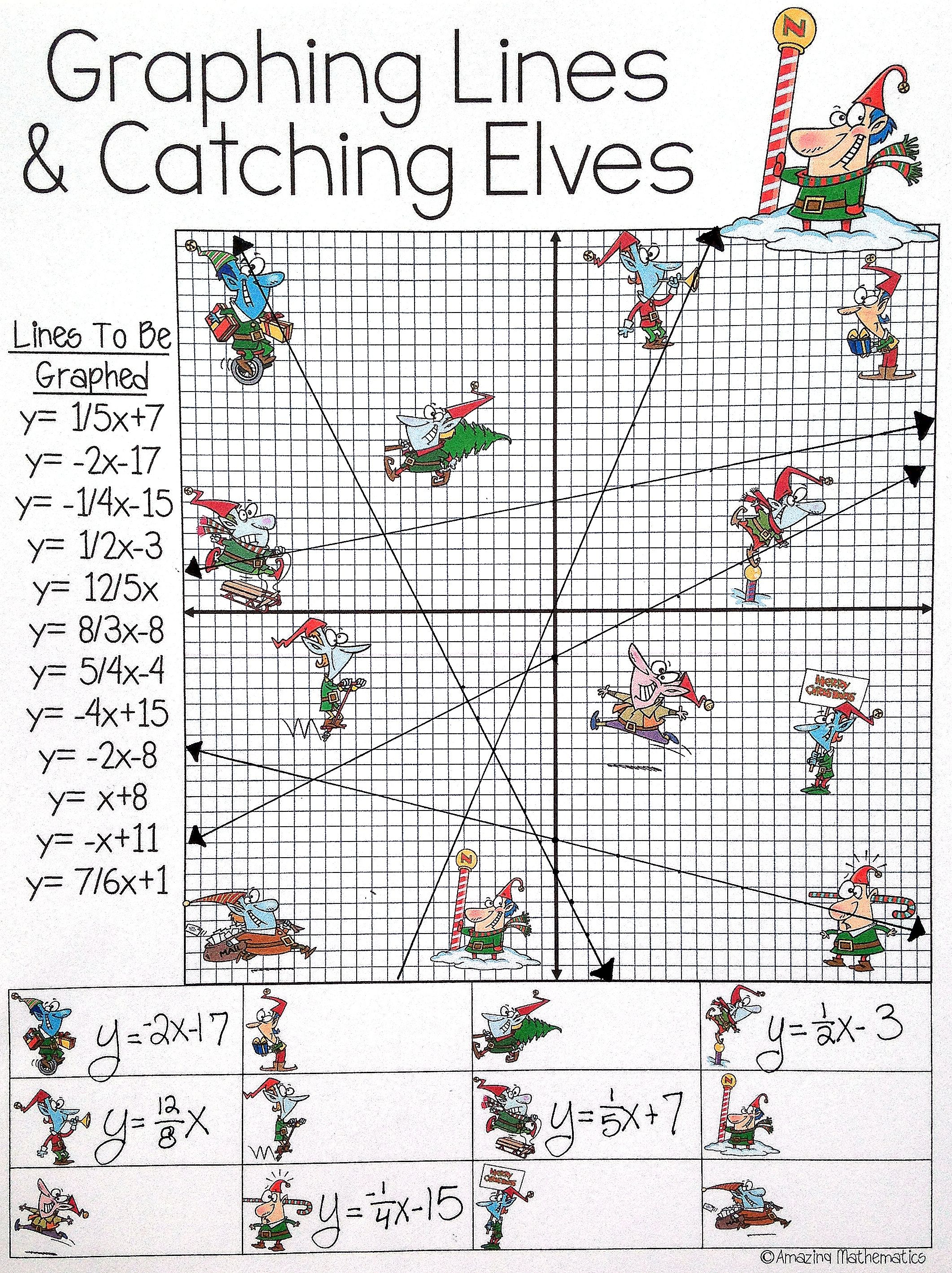 Worksheet Christmas Graphing Pictures Grass Fedjp
