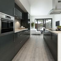 Contemporary Gray Kitchen Cabinets Your Kitchen Design