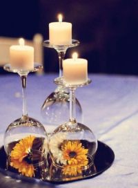 12 wedding centerpiece ideas from pinterest wine glass ...