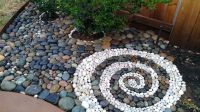 Beach rock landscape swirl design