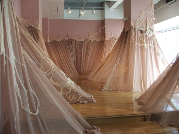 Carlie Trosclair Pours Fabric Walls Artist