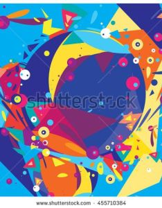 Vector fractal fabric circles abstract colorful wallpaper pattern background also rh za pinterest