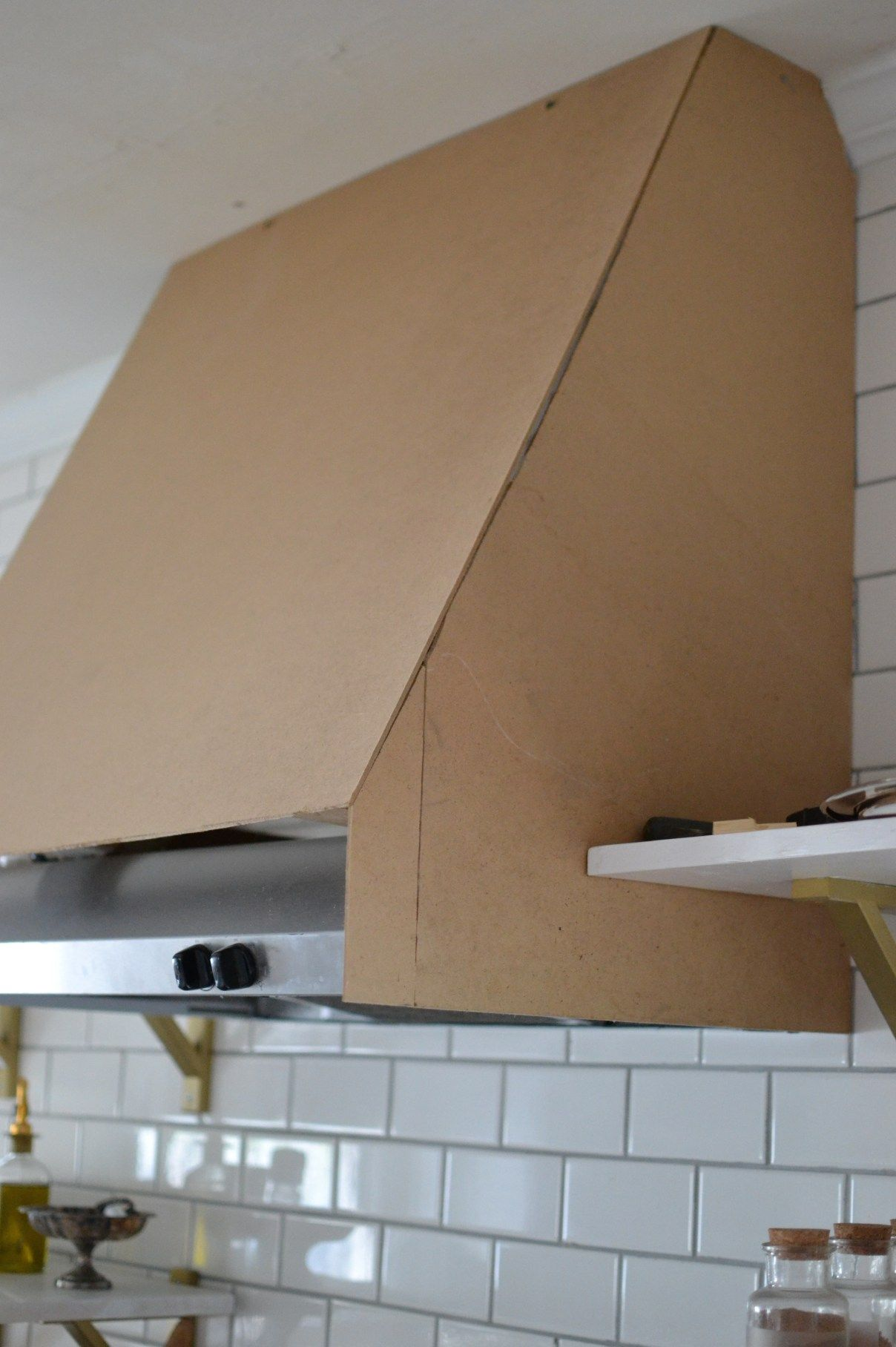 kitchen exhaust vent cover memory foam rugs diy range hood with shelving