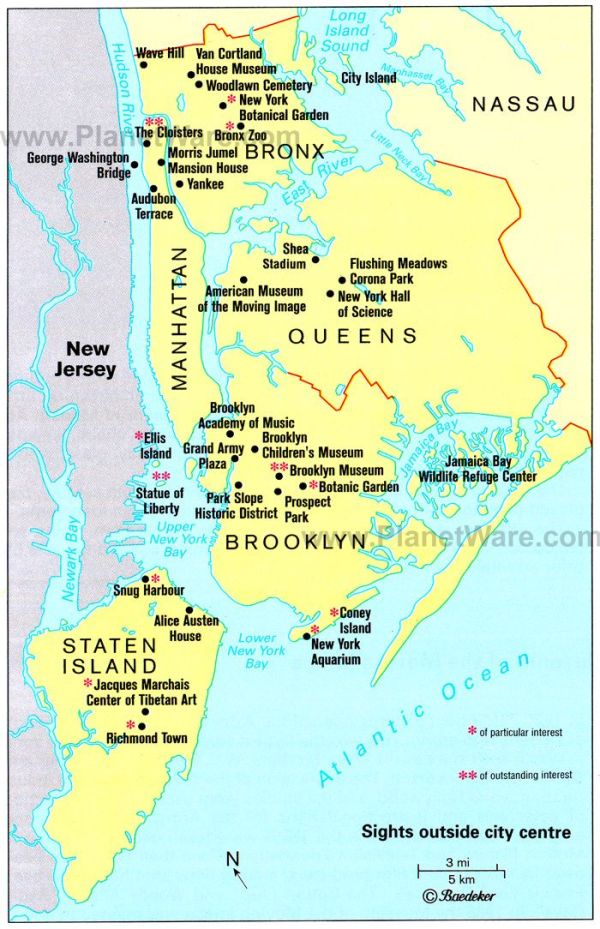 5 Boroughs of New York City Tour New York Maps