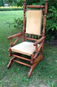 Victorian eastlake platform rocker rocking chair | Rocking ...