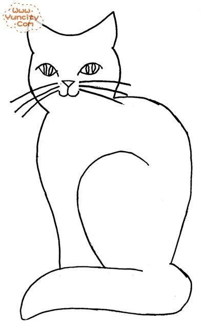Cats, Stencils and Cat outline on Pinterest