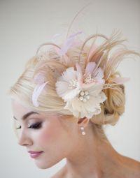 Bridal Fascinator, Fascinator, Ivory, Gold, Pink, Bridal ...