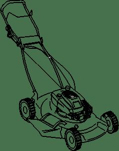 Push Mower by @JicJac, Technical drawing of a lawn mower