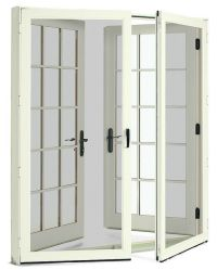 wood french doors with screen doors | J&A | Pinterest ...