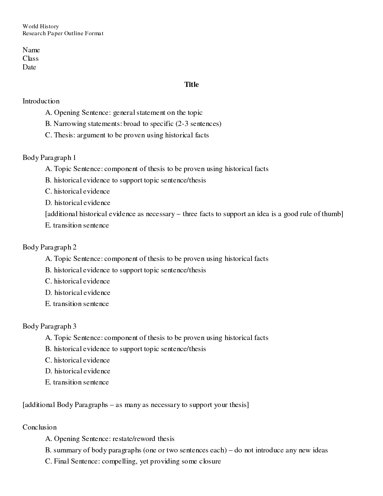 Outline Format Research Paper Hizli Rapidlaunch Co