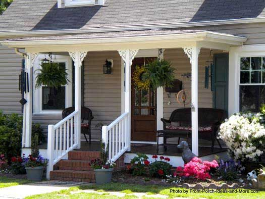 Front Porch Pictures Small Front Porches Wicker Furniture And