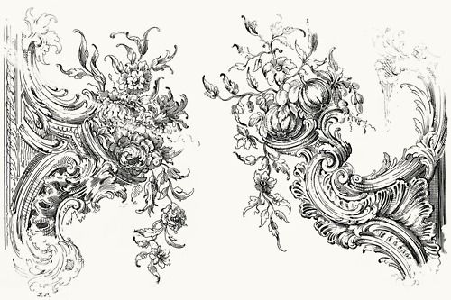 Louis XIV brackets; From Guide for drawing the acanthus