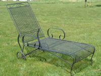 Vintage Woodard Lounge Chair   Vintage Metal Bouncy Chairs ...