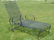 Vintage Woodard Lounge Chair Metal Bouncy Chairs