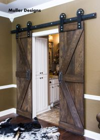 Vintage Industrial Spoked European Sliding Barn Door ...