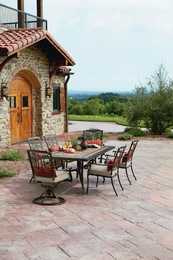 Agio Tuscany Outdoor 7 Piece Patio Dining Set Featuring