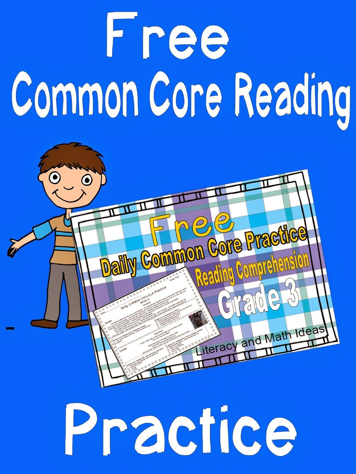Free Grade 3 Daily Common Core Reading Comprehension