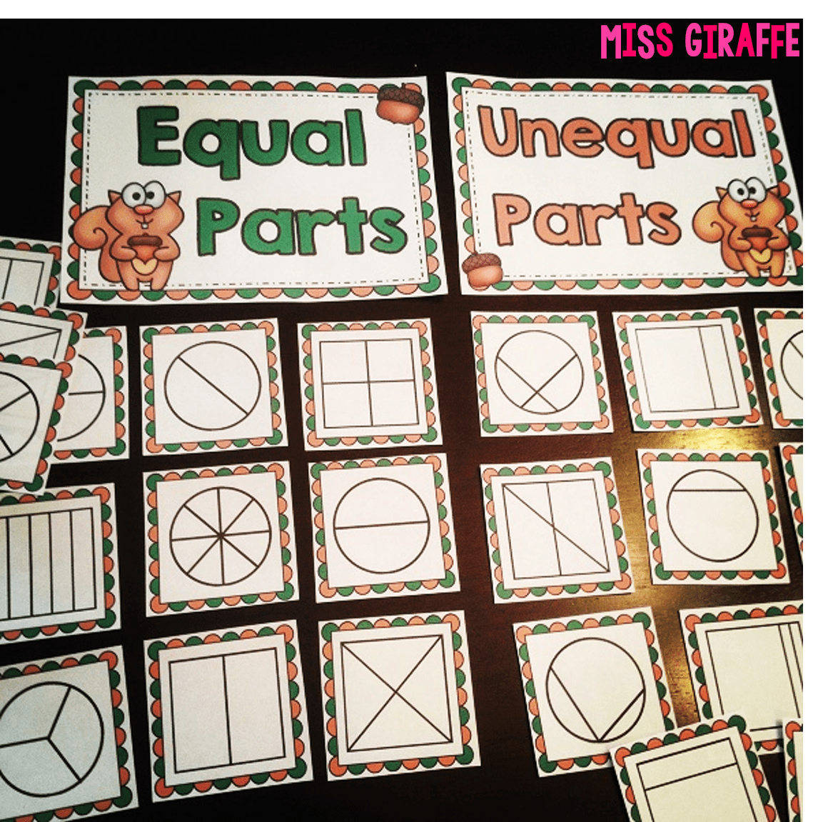 Fractions In First Grade Practing Equal Shares By Sorting