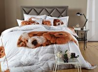 Doggies 3D Puppy Dog Print Bedding DM488 by Dolce Mela