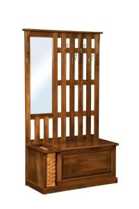 Amish Rustic Mission Hall Tree Bench with Storage | Foyer ...