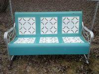 Vintage Metal Glider patio lawn bench-3 seater-Pie Crust ...