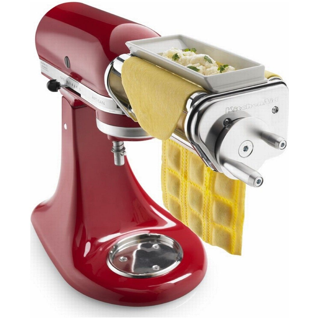 kitchen aid attachment table set kitchenaid ravioli maker