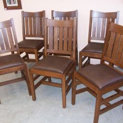 Oak Kitchen Chairs Outdoor Rocking Australia Set Of 6 New Mission Dining Home Living
