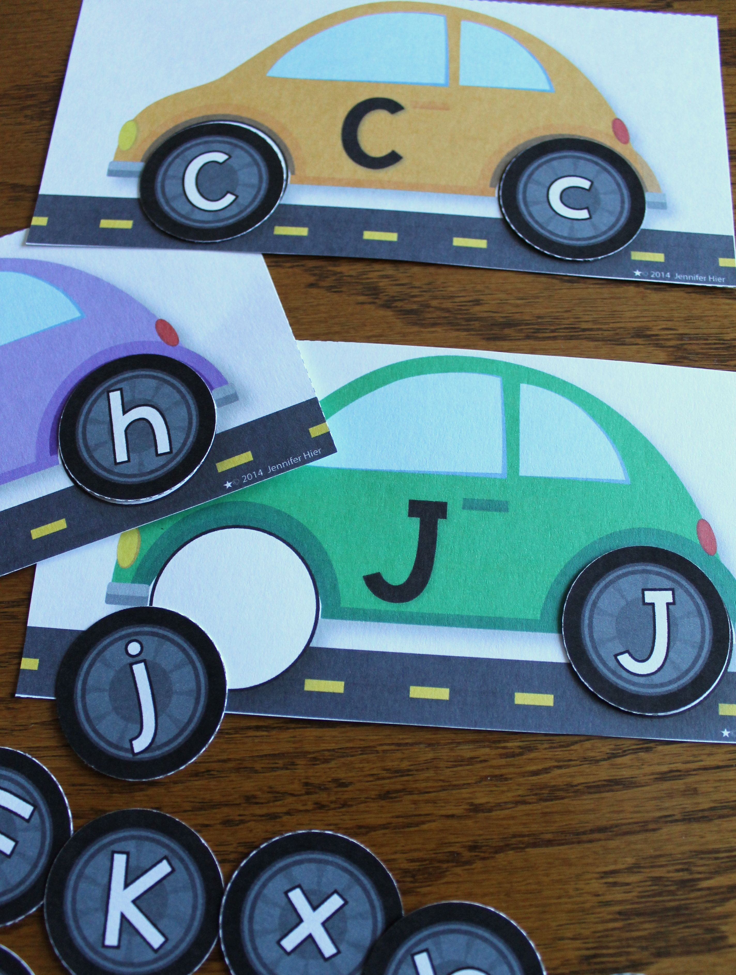 Car Letter Matching Transportation Abc For Preschool And