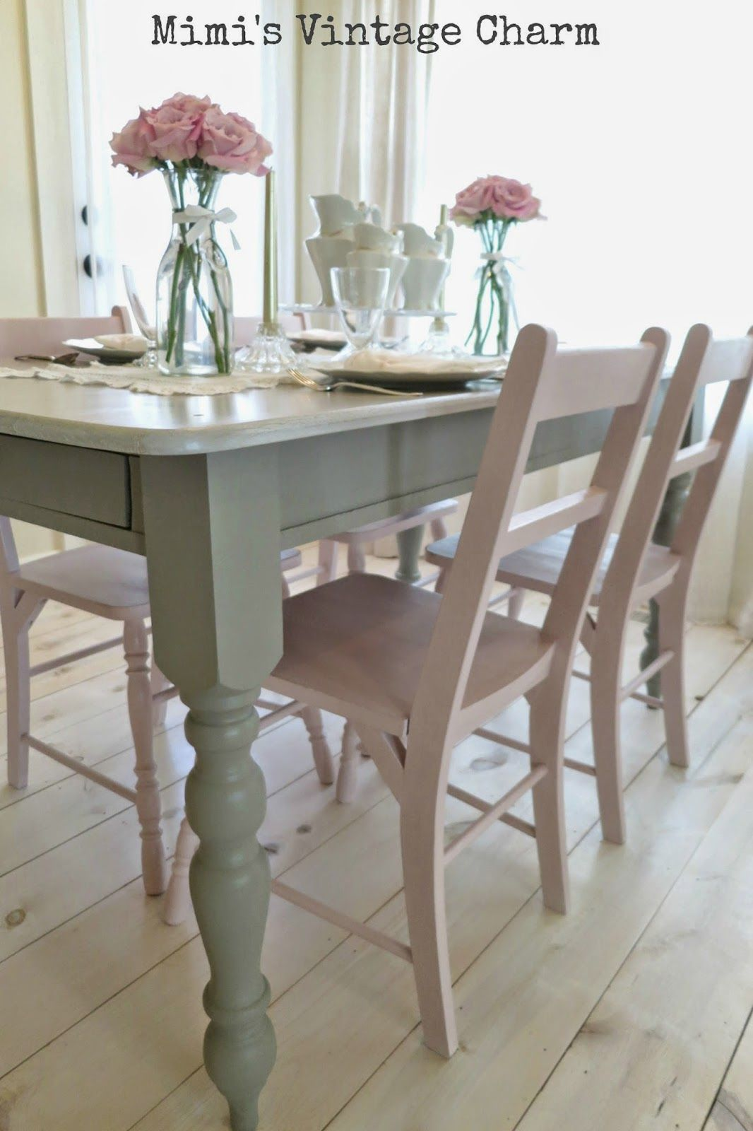 painted table and chairs metal bucket antoinette dining room french linen chalk