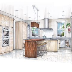 Find A Kitchen Designer Toddler Kitchens Play Sketch Drawing Of With Island Google Search