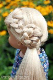 doll hairstyle flower braid side