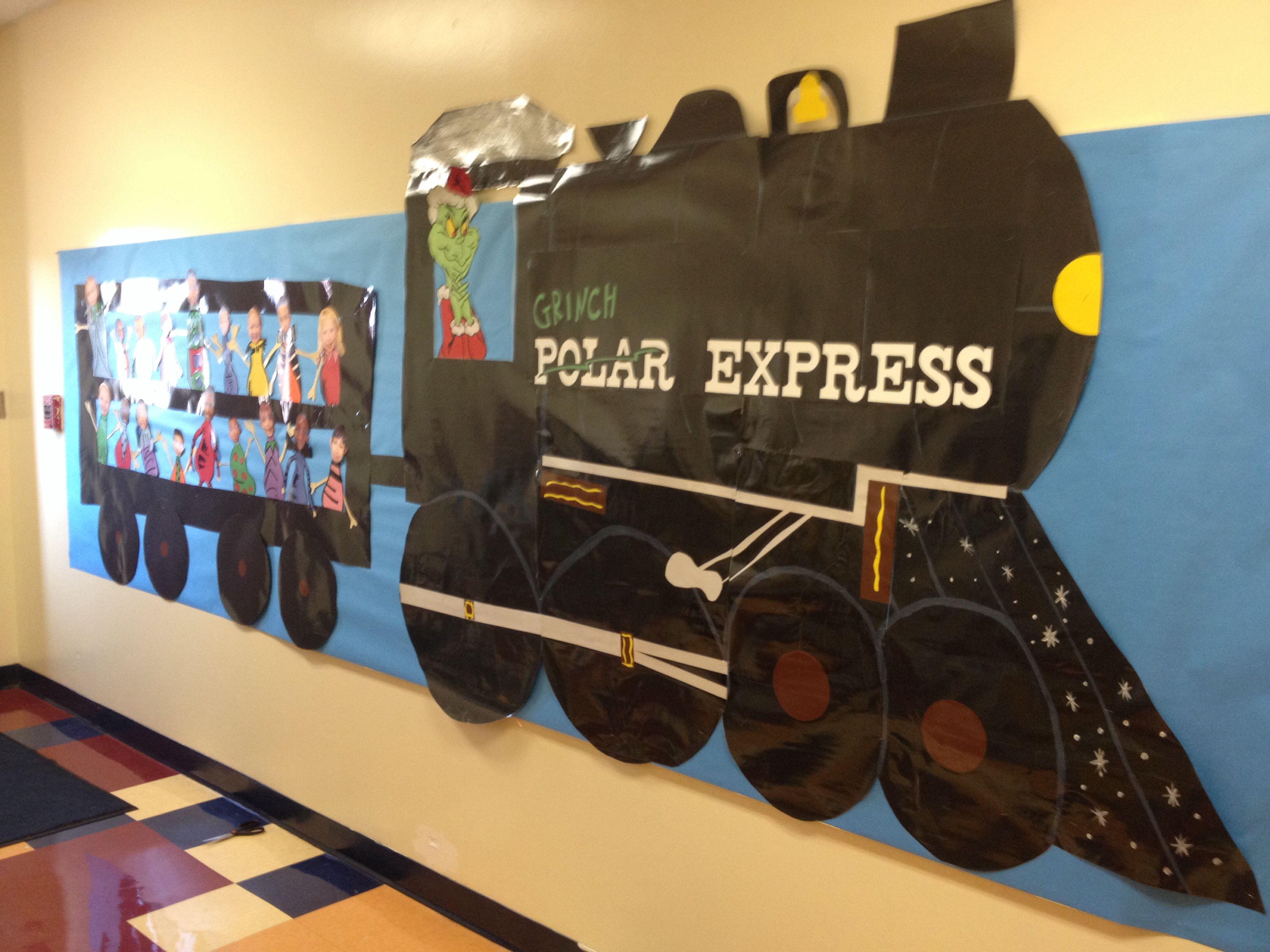 Grinch Polar Express Bulletin Board