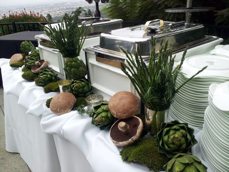 Decorate your buffet table with food  Wedding Decorator