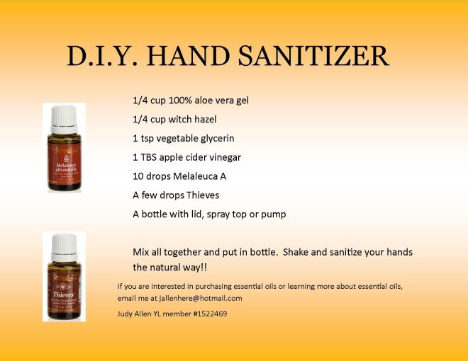 Diy hand sanitizer if you are interested in learning