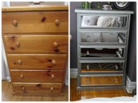Diy mirrored chest of drawers using acrylic mirrors ...